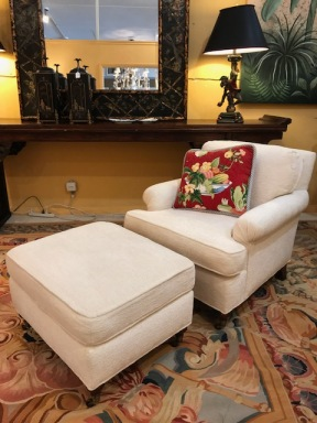 Kravet Chair and Ottoman $695