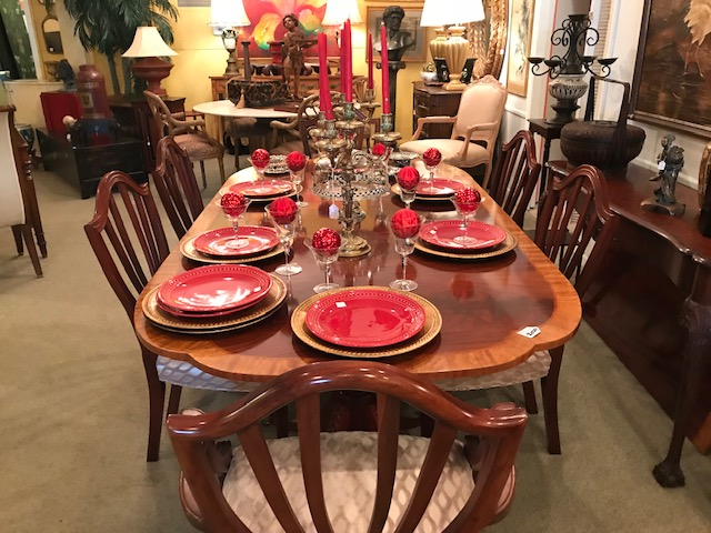 Baker Dining Table and Chairs